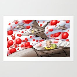 99 Red Balloons Art Print