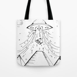 UFO Pyramid Capture Tote Bag