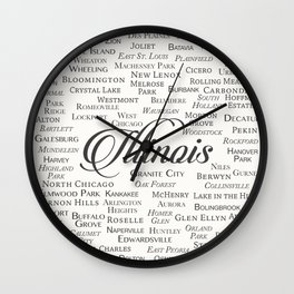 Illinois Wall Clock