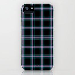 Neon Plaid iPhone Case