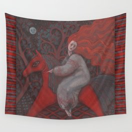 Red Horse Wall Tapestry
