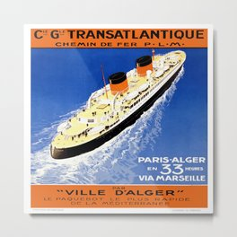 Vintage poster - French Cruise Line Metal Print