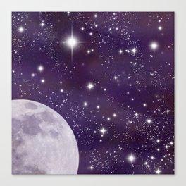 Cosmic Moon  Canvas Print