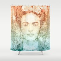 frida Shower Curtains featuring Frida  by Aive Trujillo Photography