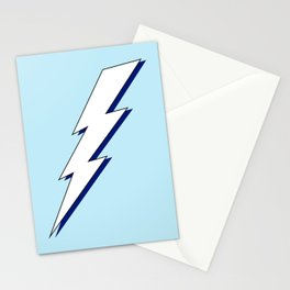 Just Me and My Shadow Lightning Bolt - Light-Blue White Blue Stationery Cards