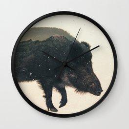 Veluwe: Wild Boar Wall Clock