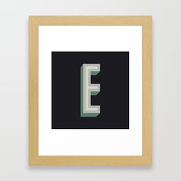 Type Seeker - E Framed Art Print