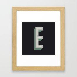 Type Seeker - E Framed Art Print