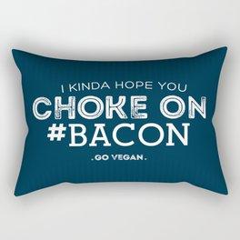 Choke On #Bacon Rectangular Pillow