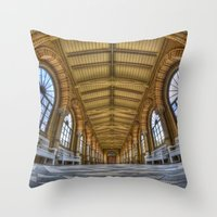 religion Throw Pillows featuring Enter religion  by Cozmic Photos