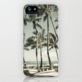 Kuau Beach Palms Maui Hawaii iPhone Case