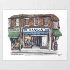 Hassan, Burnt Oak Art Print