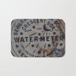 Street Water Meter - New Orleans LA Bath Mat