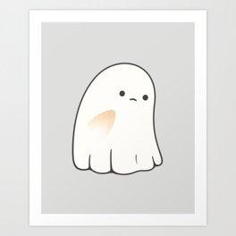 Poor ghost Art Print