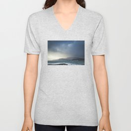 Slieve League during Storm Jake Unisex V-Neck