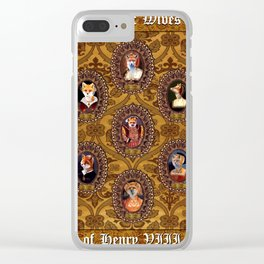 The Six Wives of Henry VIII as Foxes Clear iPhone Case