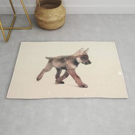 Little Ones: Wolf Rug