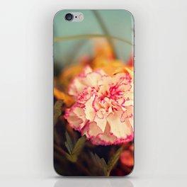 White & Pink Carnation iPhone Skin