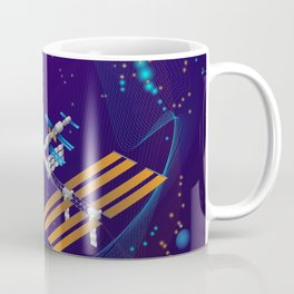 Space station in outer space. Coffee Mug