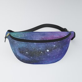 Colorful Galaxy Space Watercolor Fanny Pack
