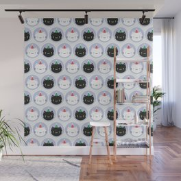 Cute Cats in Party Hats Wall Mural