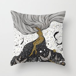 Cosmic Interaction Throw Pillow