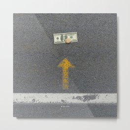 Up Road - Sideline money Metal Print