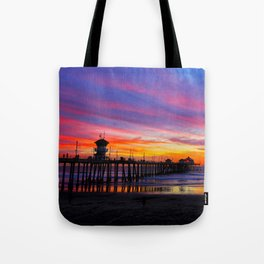 Huntington Beach Sunset   ~  12/15/13  Tote Bag