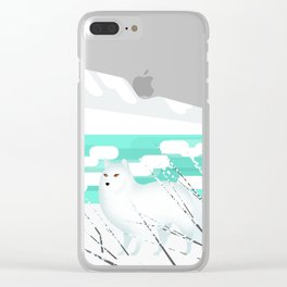 Arctic Fox - Cold but beautiful Clear iPhone Case