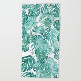 Monstera pattern Beach Towel