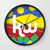 memphis Wall Clocks featuring Memphis by KAYWAAL