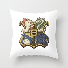 Ghibliwarts Crest Throw Pillow