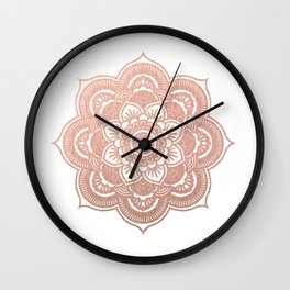 Rose gold mandala Wall Clock