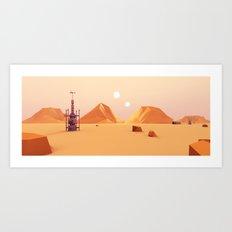 Tatooine Low Poly Art Print