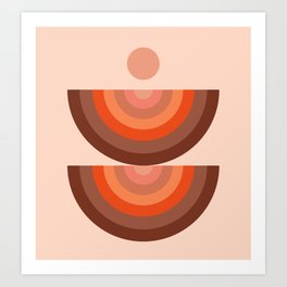 Abstraction_SUN_Rainbow_Minimalism_001 Art Print