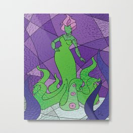 The Octo Mermaid (Emerald) Metal Print
