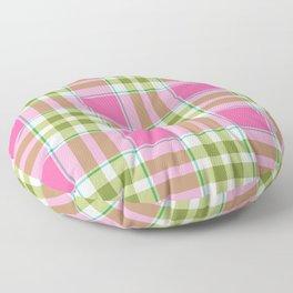Pink Green Madras Plaid Floor Pillow