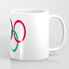 Flag of olympics games-olympic,olympic game,sport,coubertin, circles,medal,fun,international Coffee Mug