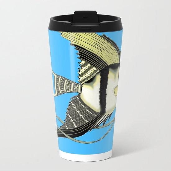 Angelic Angelfish Metal Travel Mug