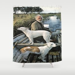 Goodfellas Movie Poster -  Old Man with Dogs Shower Curtain