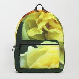 Yellow peony Backpack