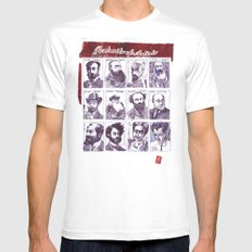 Portraits of artists MEDIUM White Mens Fitted Tee