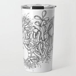 Bombshell Adult Coloring, Pin Up Design, Travel Mug