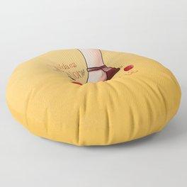 La vida es mejor en chanclas Floor Pillow