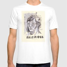 Easy Rider Collage Mens Fitted Tee White MEDIUM