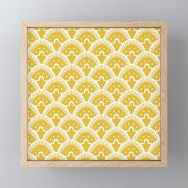 Fan Pattern Mustard Yellow 201 Framed Mini Art Print