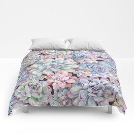 succulent garden 3 Comforters