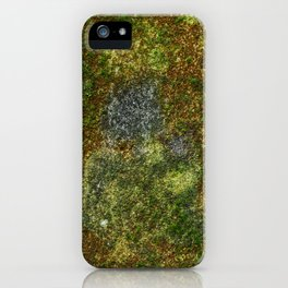 Old stone wall with moss iPhone Case