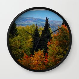Mont Albert From Afar Wall Clock