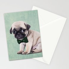 Angry Pug Stationery Cards